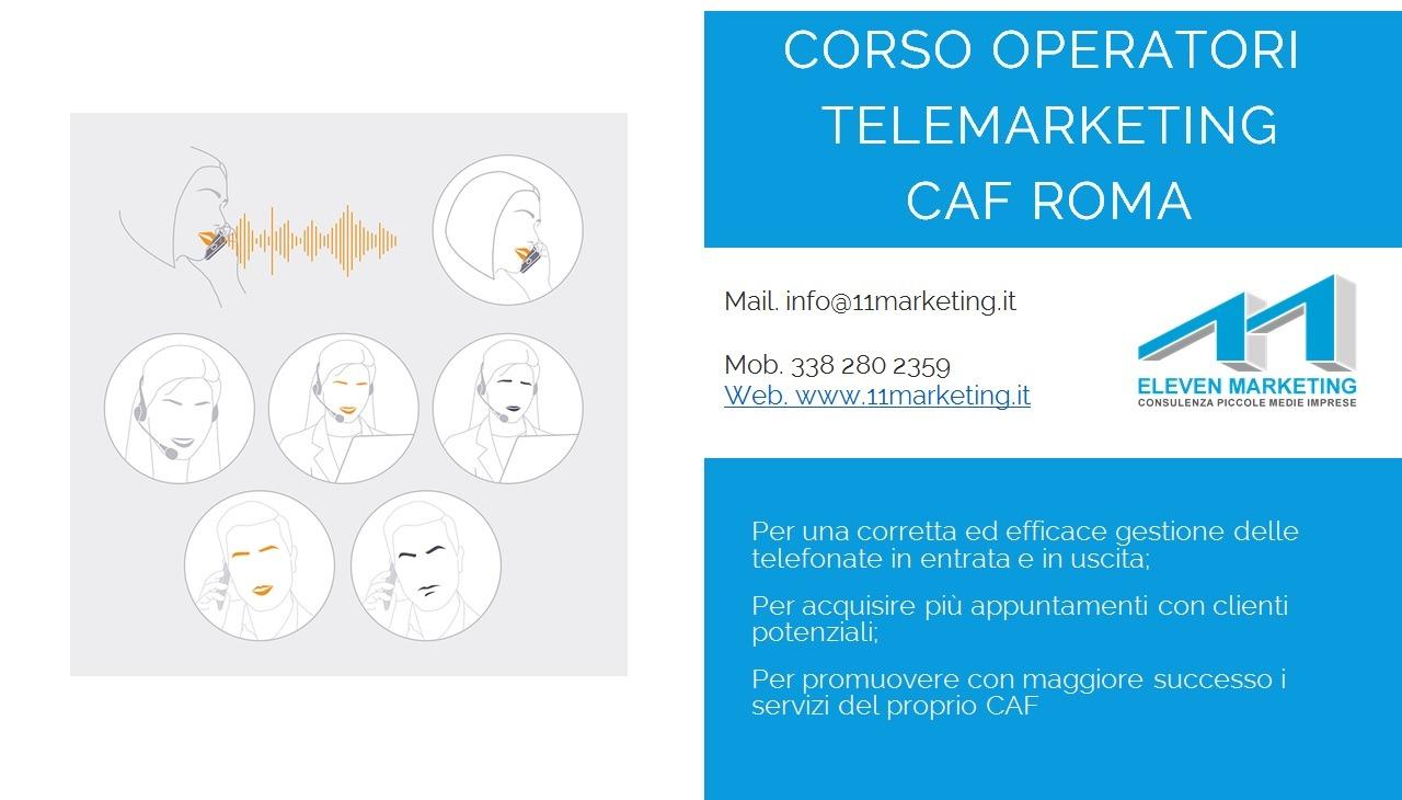corso telemarketing caf roma