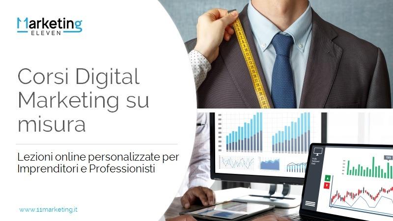 Corsi Digital Marketing su misura: online e in aula
